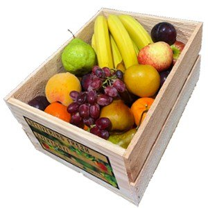 Medium wooden crate fruit box